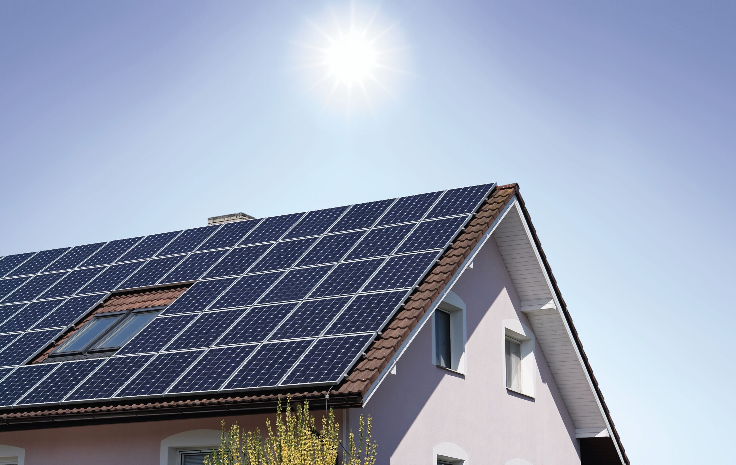instalacja działająca na energię słoneczną